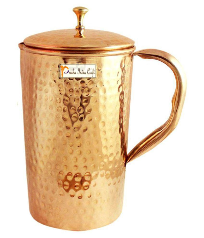 Prisha India Craft Copper Pitchers 1500 ml