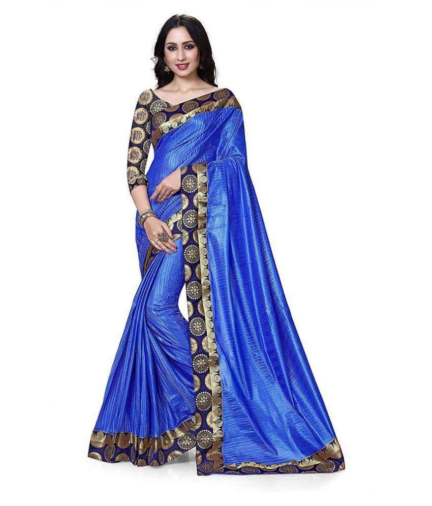 Fab Ikshvaku Blue Silk Saree