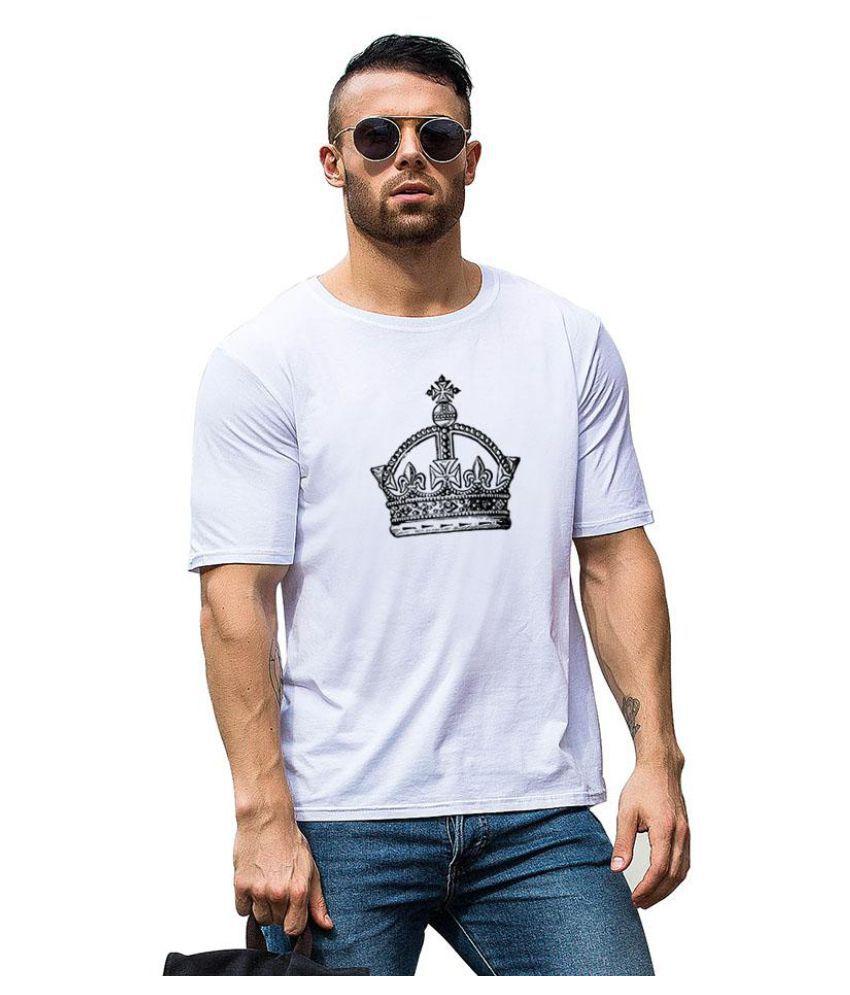Fashion Crown Print Unisex Summer Round Neck Short Sleeve Top Tee Soft T-Shirt