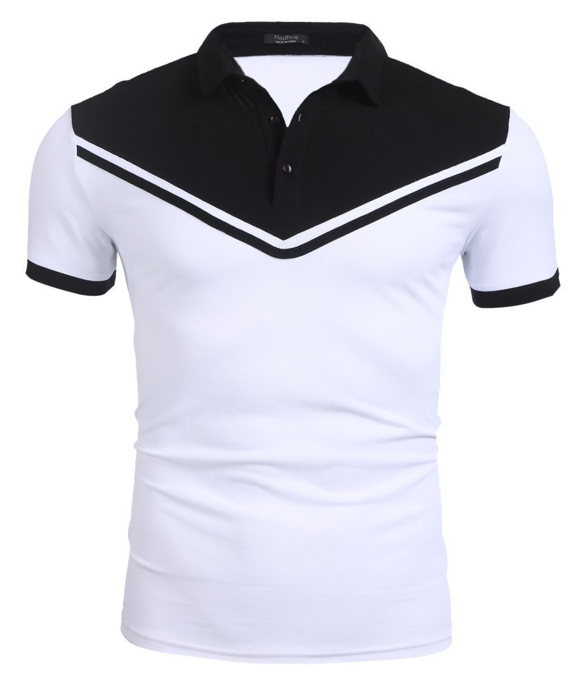 Men Short Sleeve Classic Fit Patchwork Casual Pique Polo Shirts