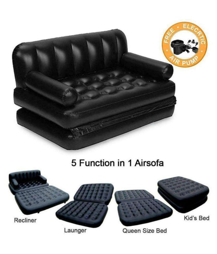 5 IN 1 INFLATABLE AIR SOFA BED WITH FREE ELECTRIC MOTOR