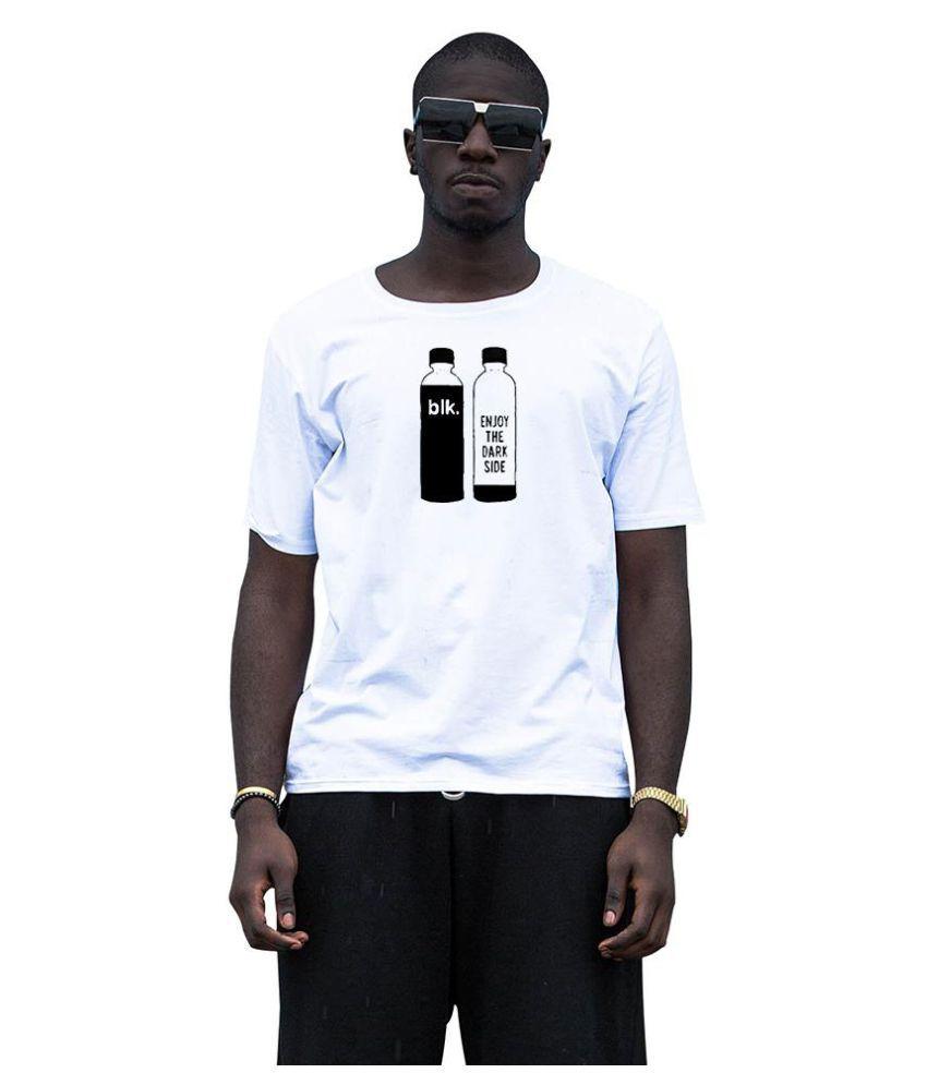 Casual Men Women Bottle Print Summer Short Sleeve Round Neck Tee Couple T-Shirt