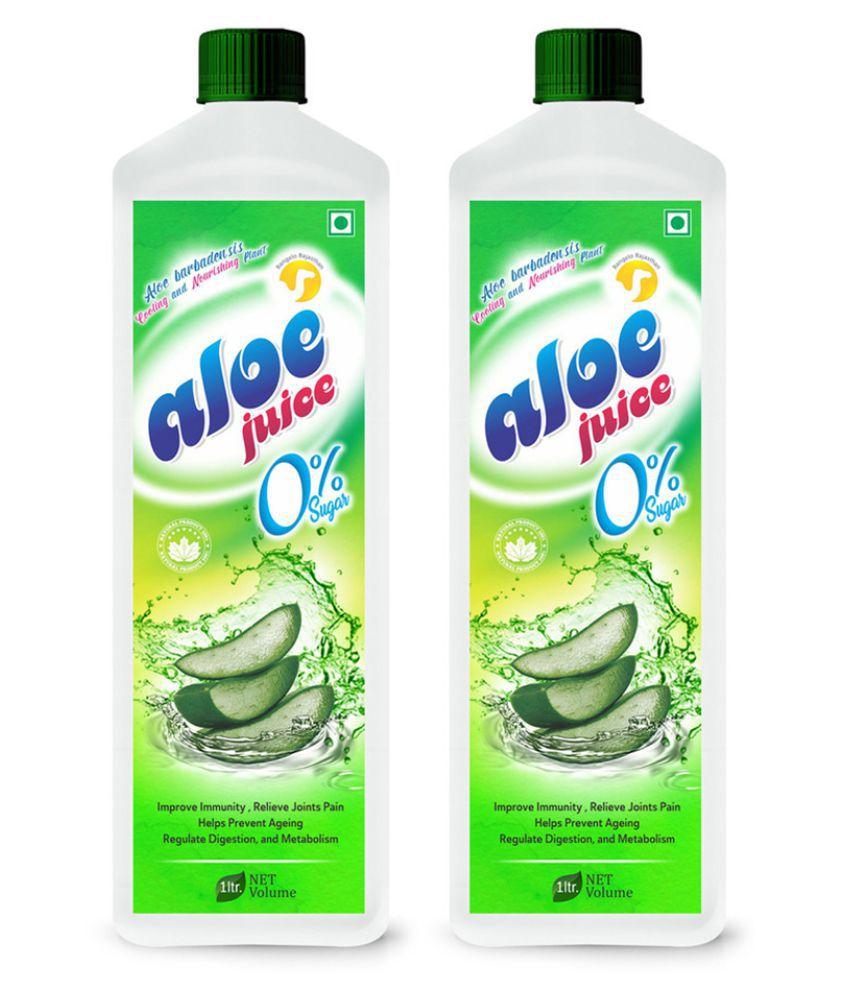 Rangelo Rajasthan Aloe Vera Juice (Sugar Free)- Health Drink 1000 ml Pack of 2