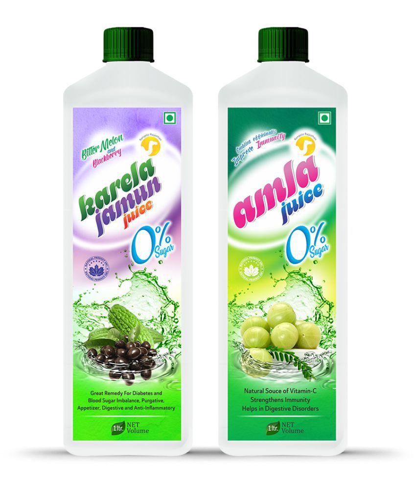 Rangelo Rajasthan Karela Jamun & Amla Juice- Health Drink 1000 ml Pack of 2