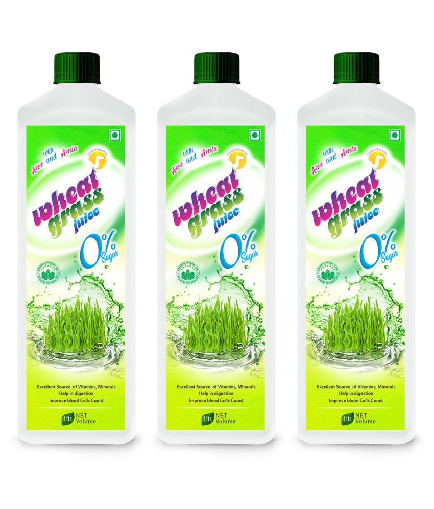 Rangelo Rajasthan Wheat grass Juice (Sugar Free) Health Drink 1000 ml Pack of 3