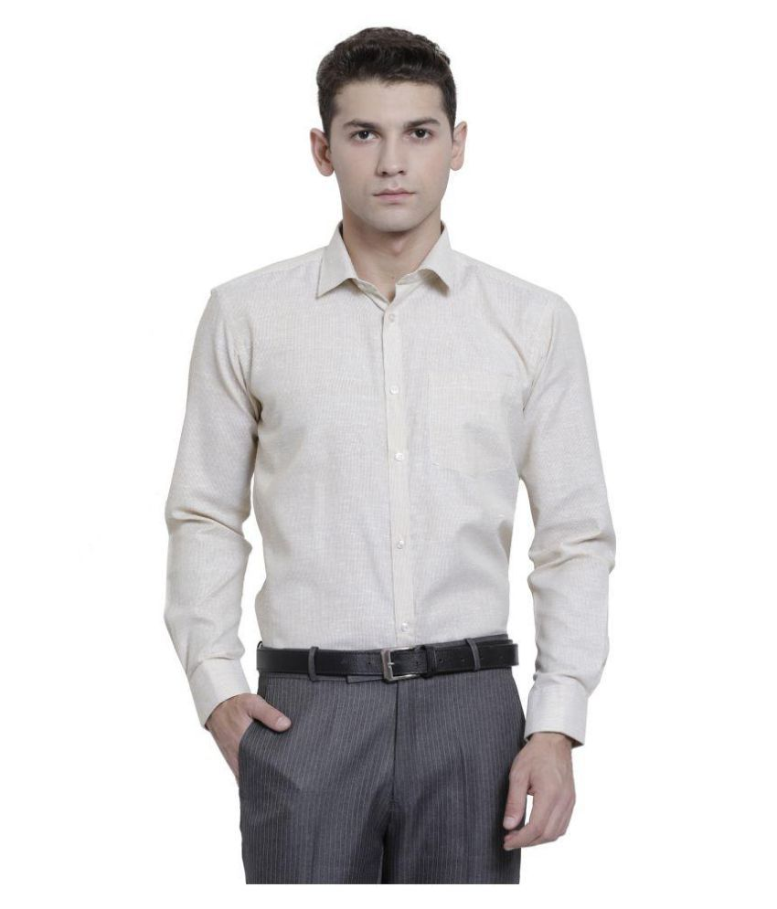RG Designers Yellow Slim Fit Formal Shirt