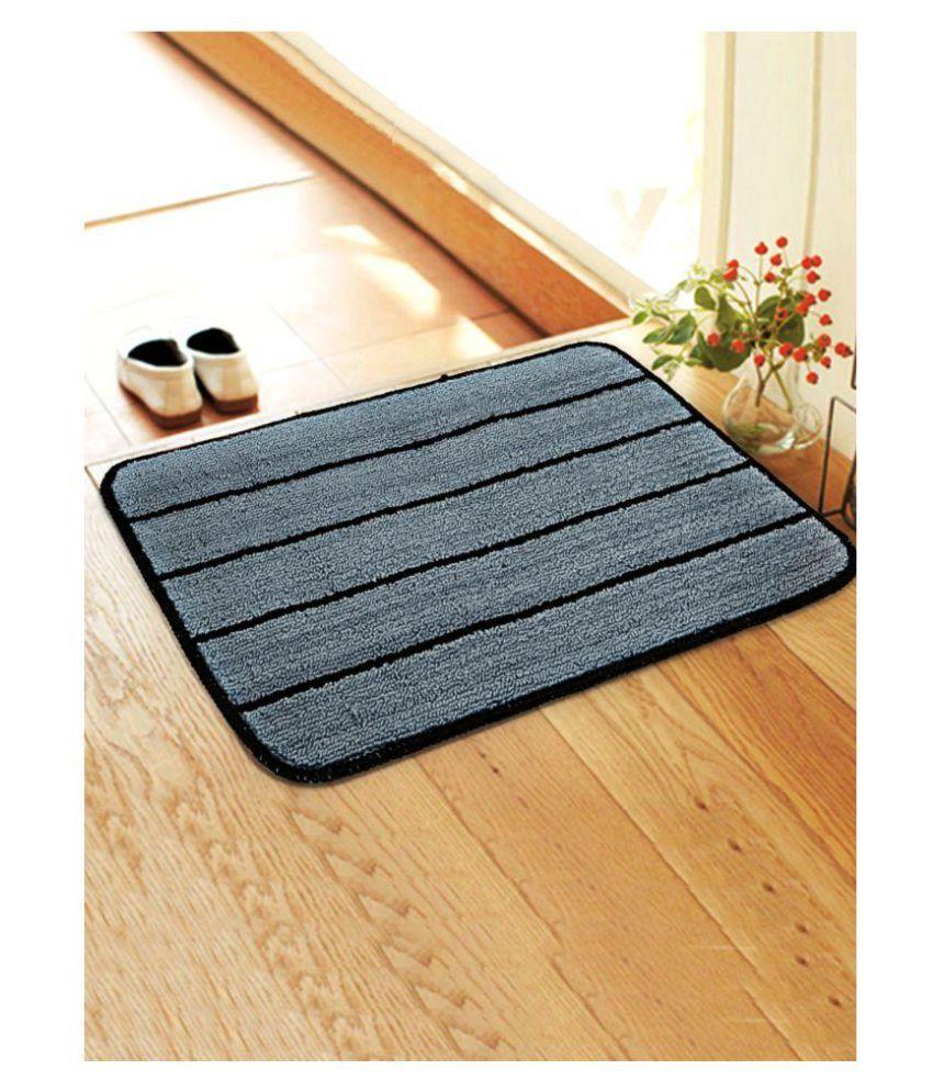 Saral Home Blue Single Anti-skid Floor Mat