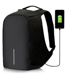 Quick View. Trouper Black Canvas Polyester Anti Theft Laptop Bag Backpacks  College Bags ... c2851c33fe7e8
