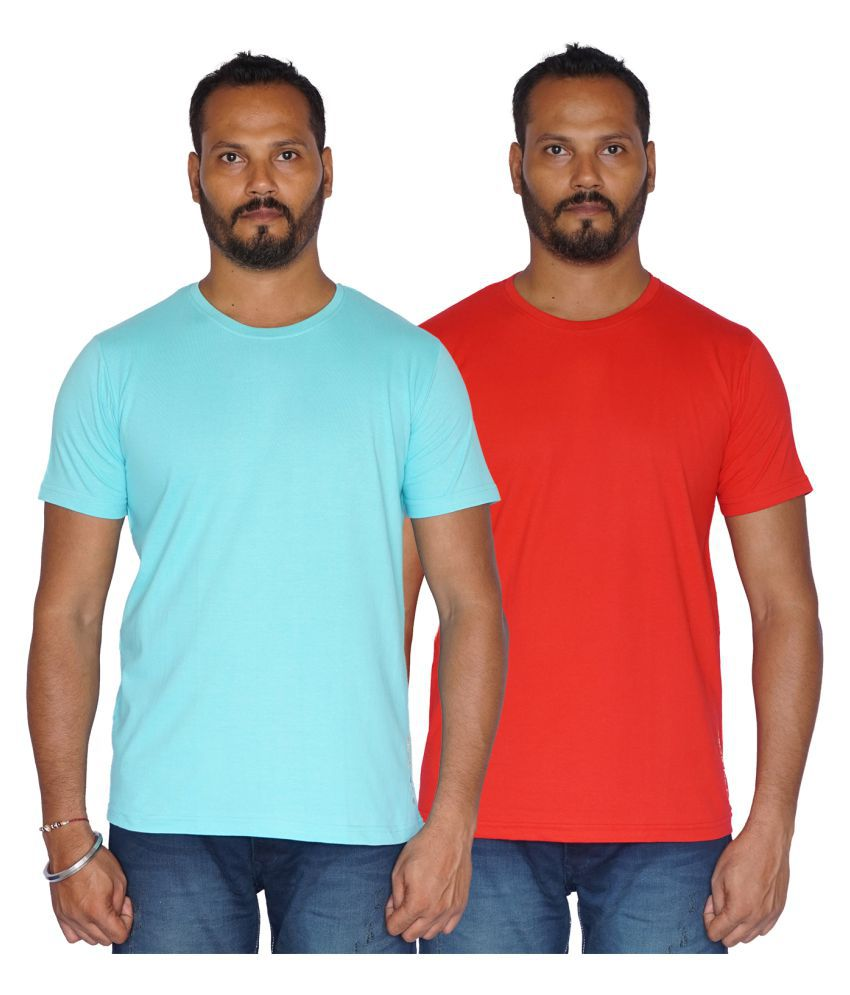 SKOR-NX Multi Half Sleeve T-Shirt Pack of 2