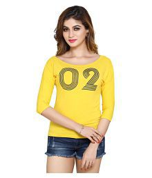 pdpm Cotton Yellow T-Shirts