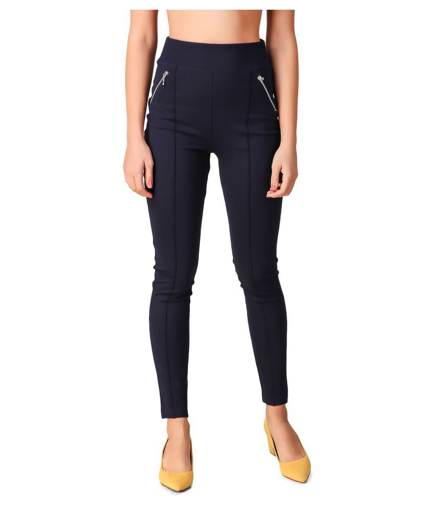 Texco Polyester Jeggings - Navy