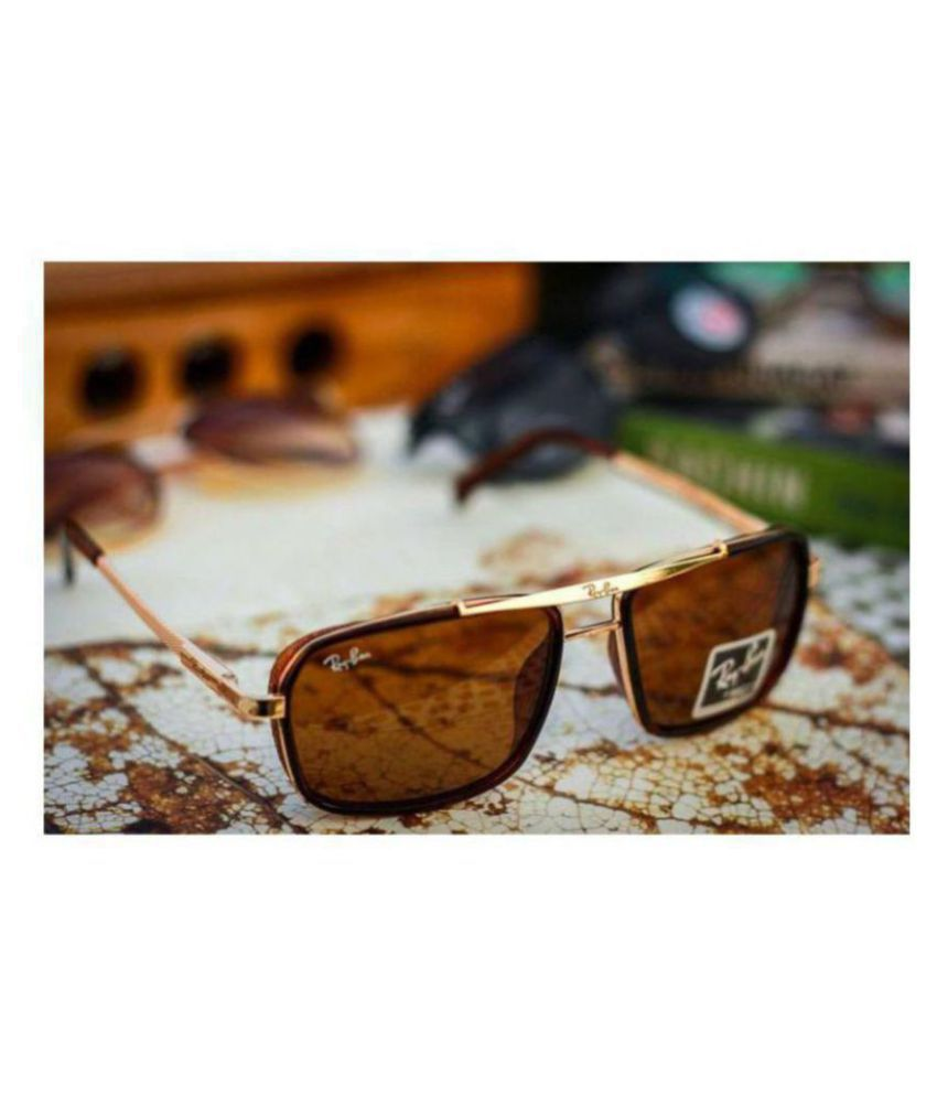 47ca8a7636 Ray Ban Avaitor Brown Rectangle Sunglasses ( 4413 ) - Buy Ray Ban ...