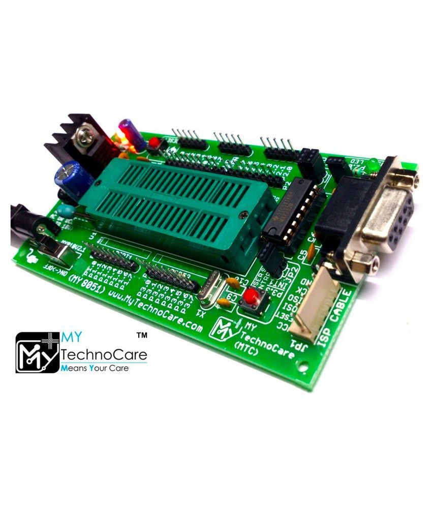 8051 Development Board with ZIF Socket+RS232 MAX232,WITHOUT ATMEL AT89S52  Microcontroller IC For AT89S51/XX,AT89CXX,P89V51RD2 Architecture 40Pin Chip