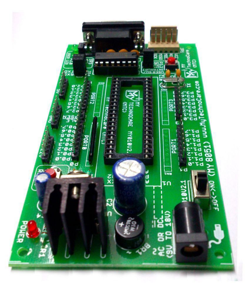 ATMEL 8051 Development Board + MAX232,WITHOUT AT89S52