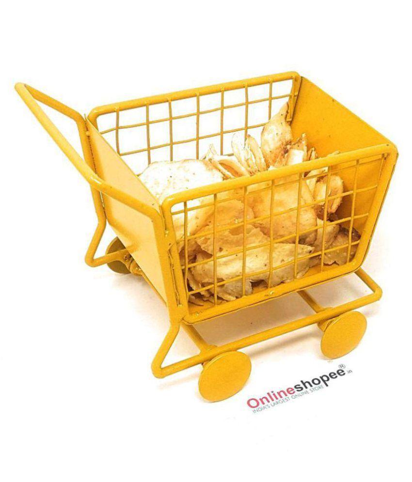 Onlineshoppee Yellow Iron Trays - Pack of 1