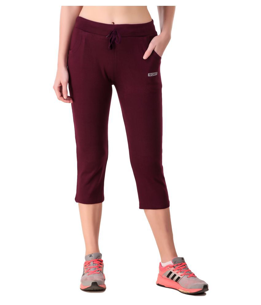 Be You Cotton Tights - Burgundy