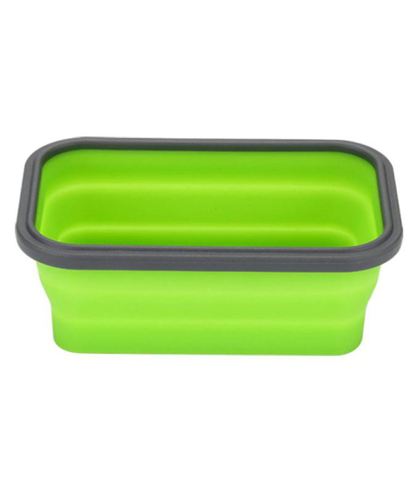 Eco Friendly Foldable Silicone Lunch Box Outdoor Picnic Food Storage