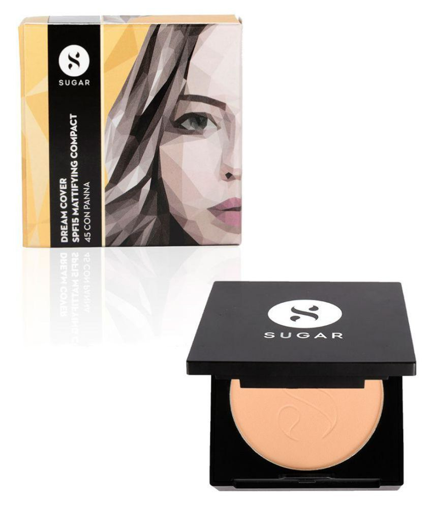 Sugar Cosmetics Dream Cover SPF15 Mattifying Pressed Powder Compact 45 Con Panna 6 gm