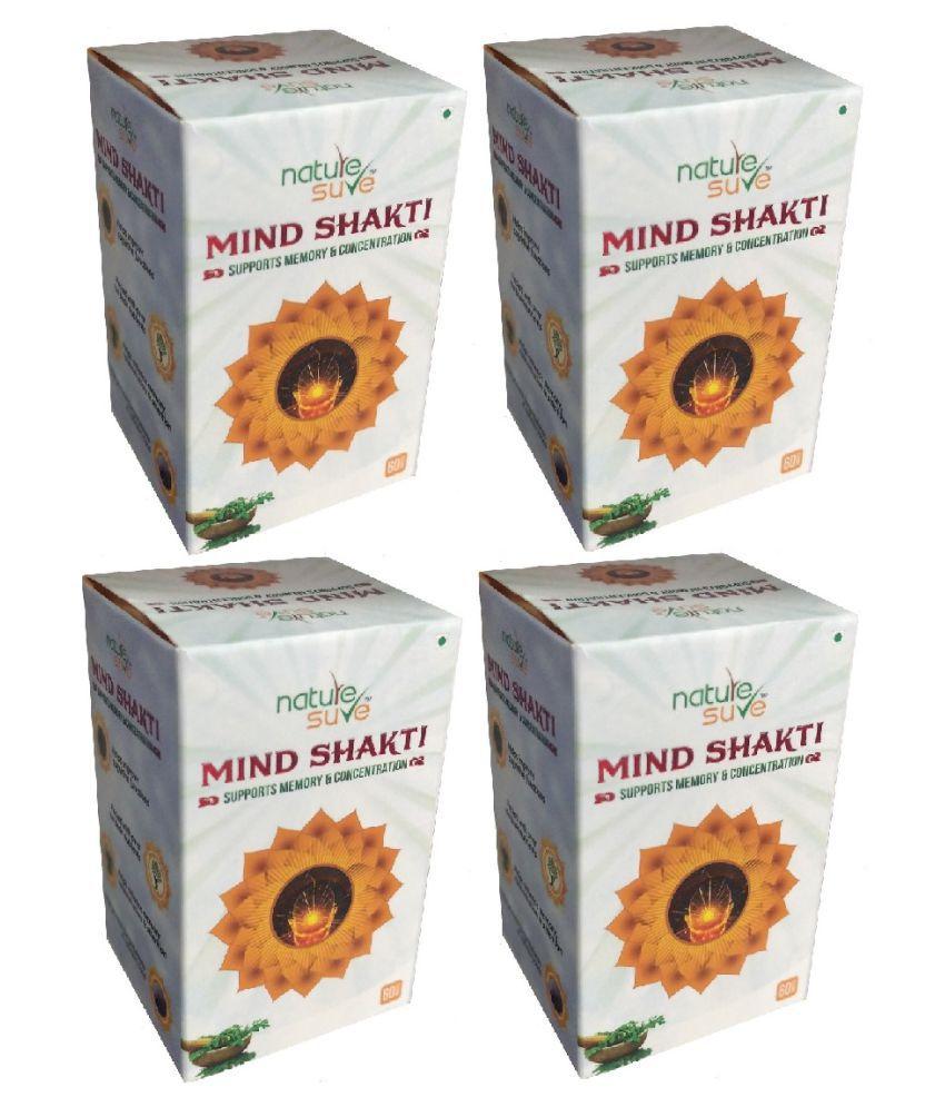 Nature Sure Mind Shakti Tablet 240 no.s Pack Of 4