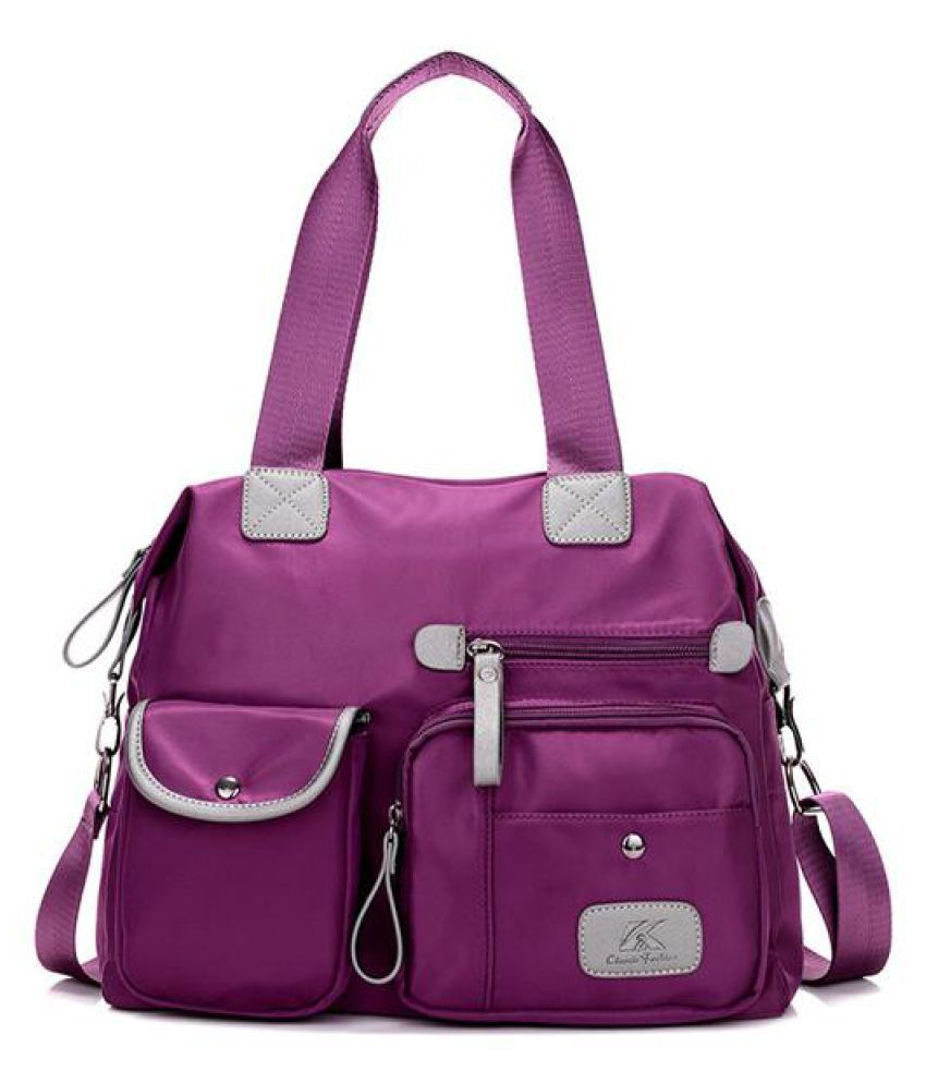 Women Nylon Light Weight Multi Pocket Big Capacity Handbags Crossbody Bags