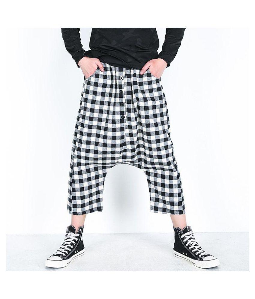 777dcd6158b Fashion S-5XL Harem HipHop Drop Crotch Men Pants Baggy Button Decor Calf  Length Elastic ...
