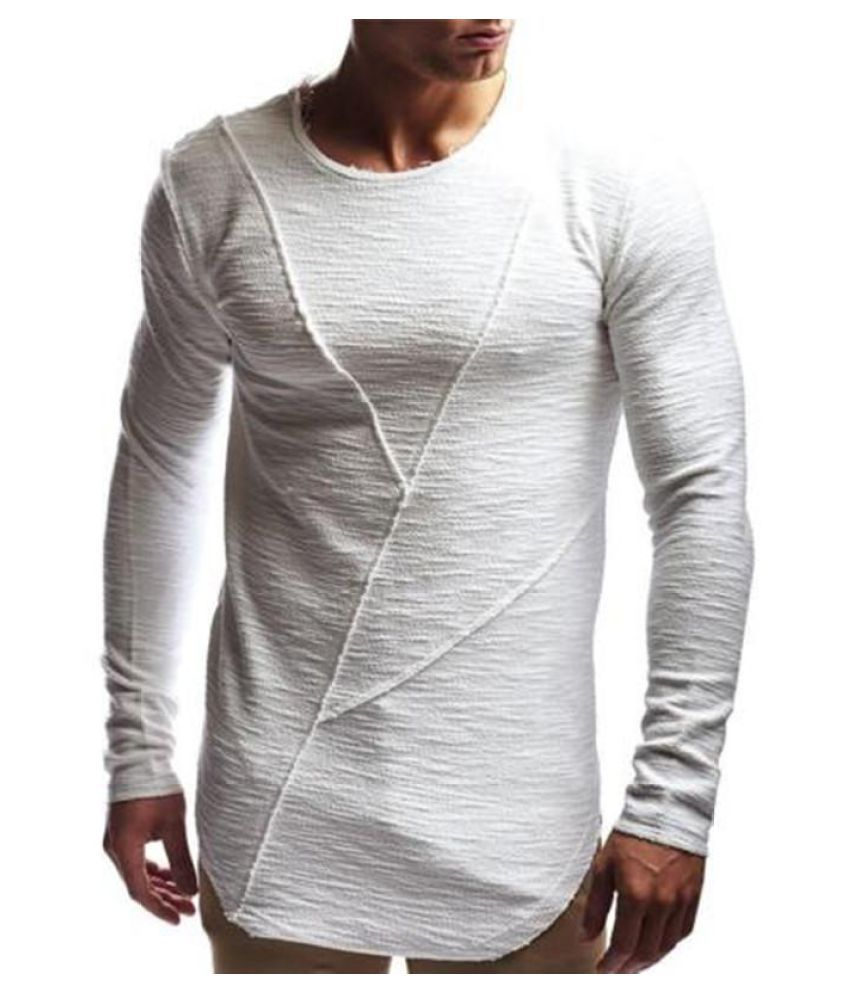 aeec854cd4e5 Men Casual Long Sleeve Crew Neck Fashion Irregular Hem Top Plain Tee Shirts  - Buy Men Casual Long Sleeve Crew Neck Fashion Irregular Hem Top Plain Tee  ...