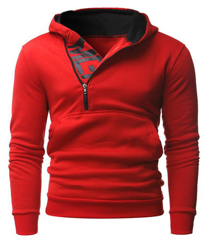 Stylish Men Pullover Hoodie Hooded Sweatshirt Zipper Hoody Tops Overcoat Outwear
