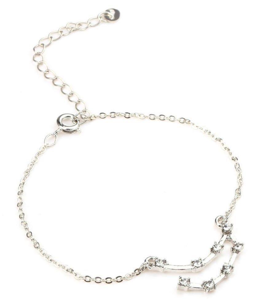 Women Korean-Style Fashion 12 Constellations Rhinestone Bracelet