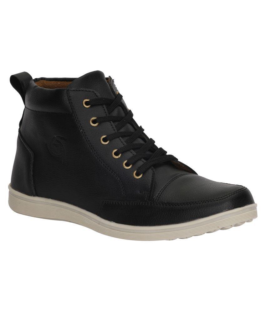 Kraasa Black Casual Boot