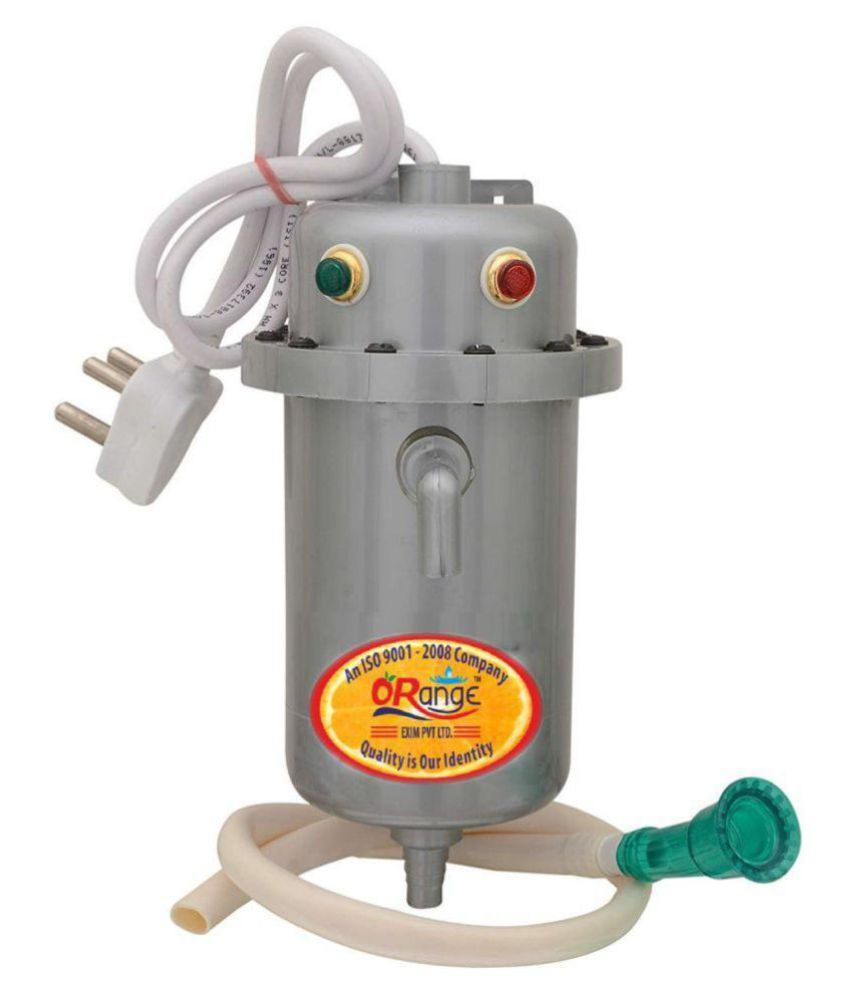Orange 1 Ltr Portable Geyser Instant Water Heater (Grey) Instant - Geysers Grey