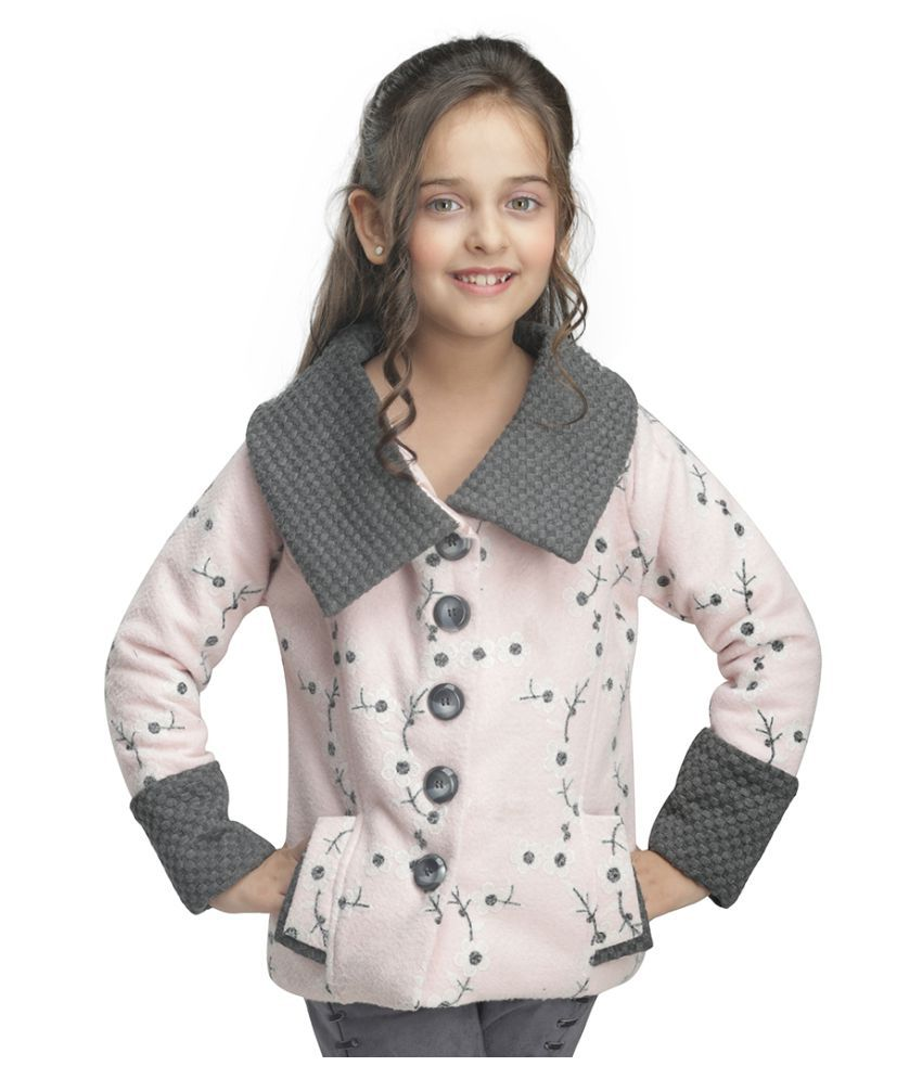 Cutecumber Girls Partywear Coat Fabric Jacket