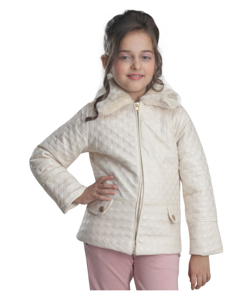 Cutecumber Girls Partywear Quilted Polyester Jacket