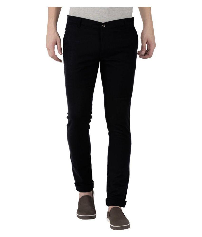 JUGEND Black Slim -Fit Flat Trousers