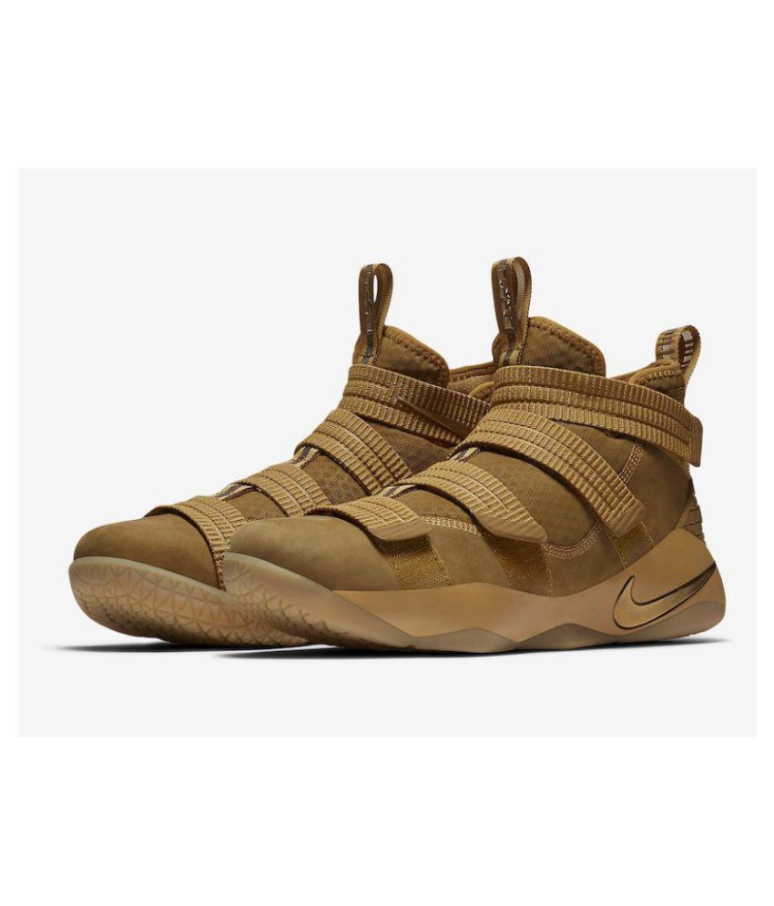online retailer 1c8f5 9dd3c Nike Lebron Zoom Soldier 11 Wheat Gold Midankle Male Others