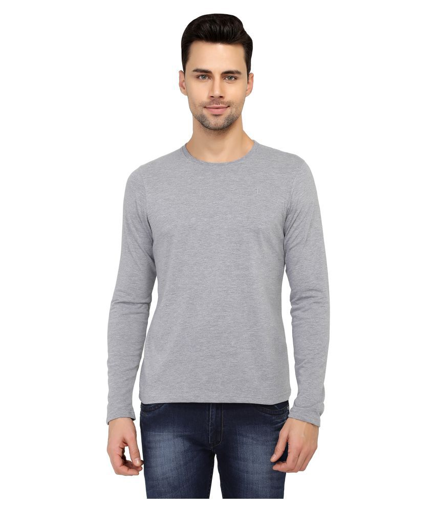 two tribes Grey Full Sleeve T-Shirt