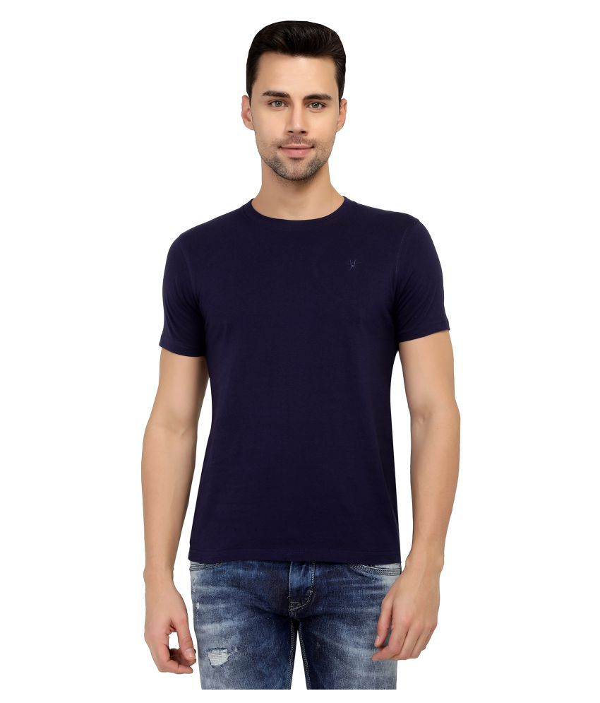 two tribes Navy Half Sleeve T-Shirt
