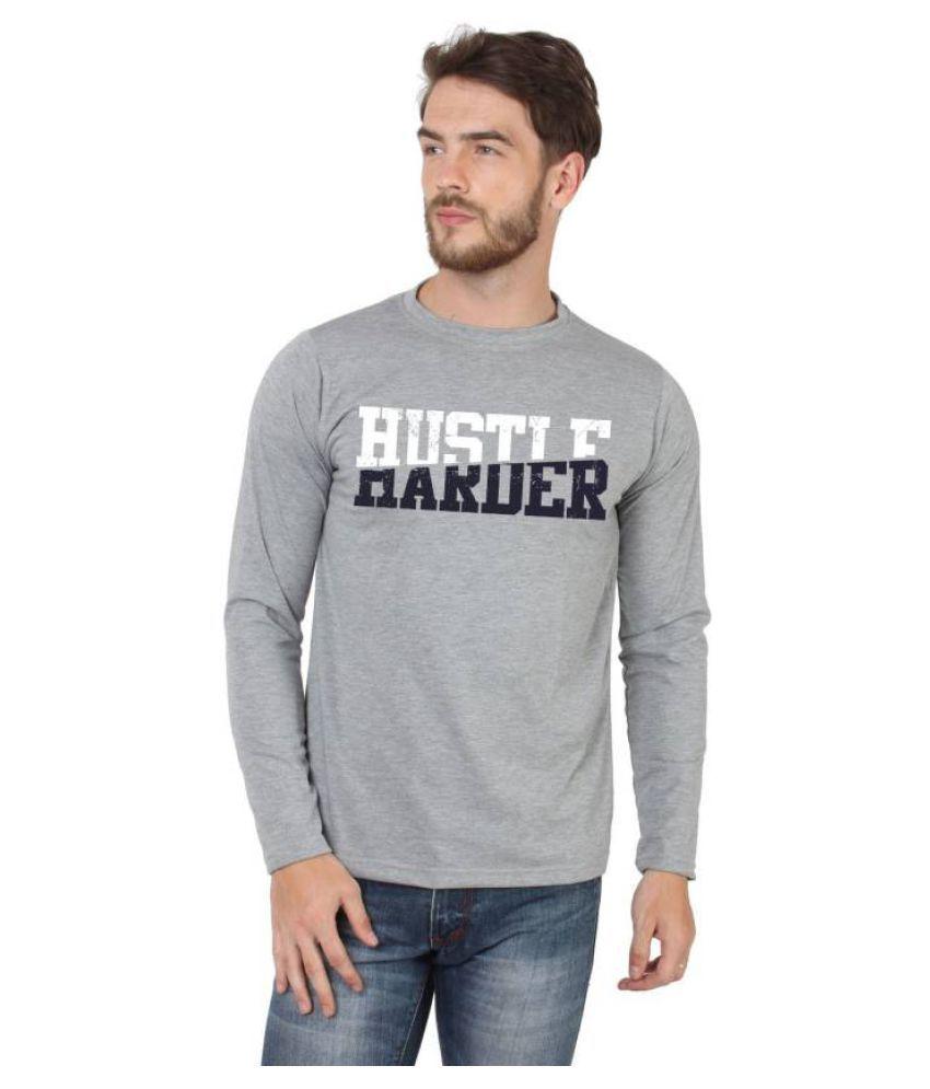 HUSTLE Grey Full Sleeve T-Shirt