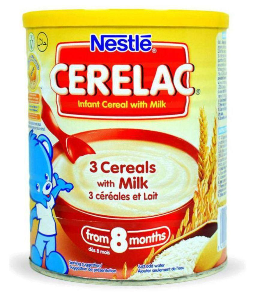 Nestle Baby Food 3 CEREALS WITH MILK Infant Cereal For 6