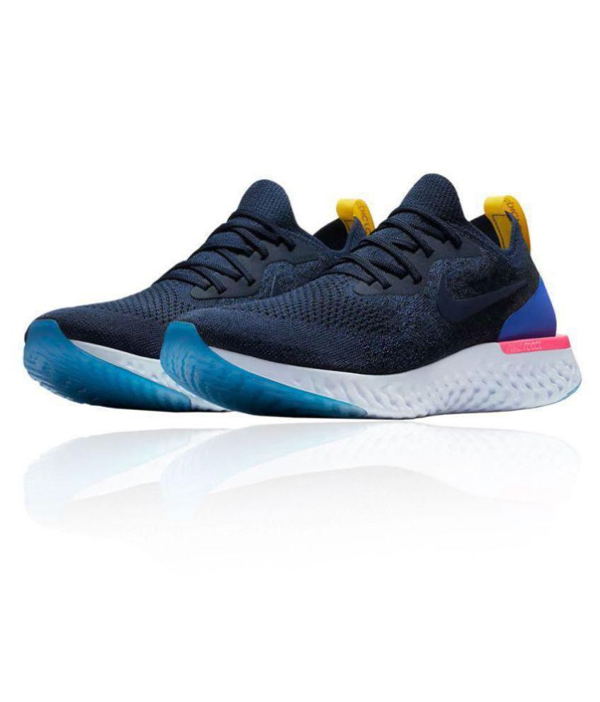 0e45522a0468 Nike Epic React Flyknit Blue Running Shoes Price in India- Buy Nike Epic  React Flyknit Blue Running Shoes Online at Snapdeal