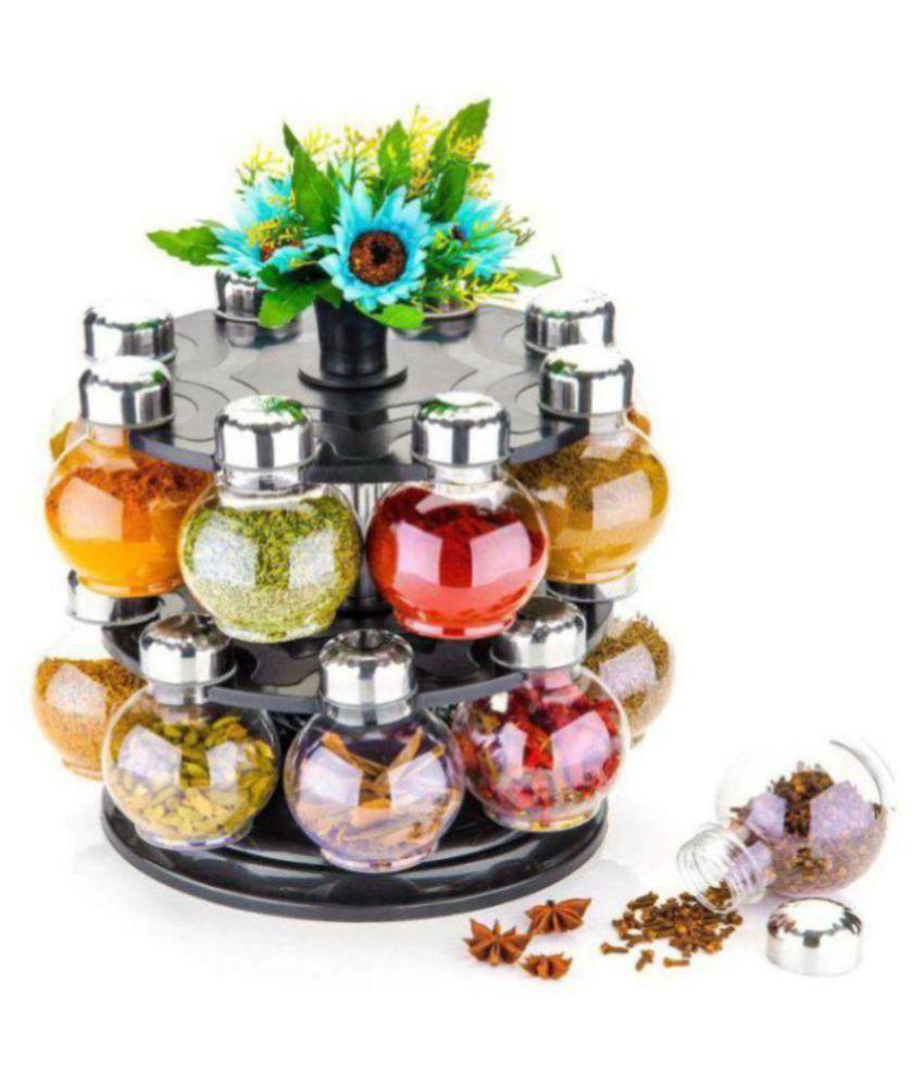 Lion Lender 360 Degree Revolving Spice Rack Polyproplene Spice Container Set of 1