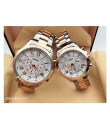 Fossil Multifunction Stainless steel couple Watch