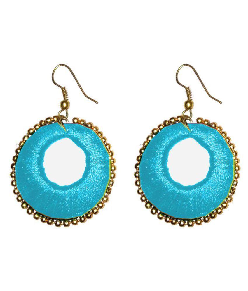 Fashionable Brown Hoop Earrings By Shrungarika