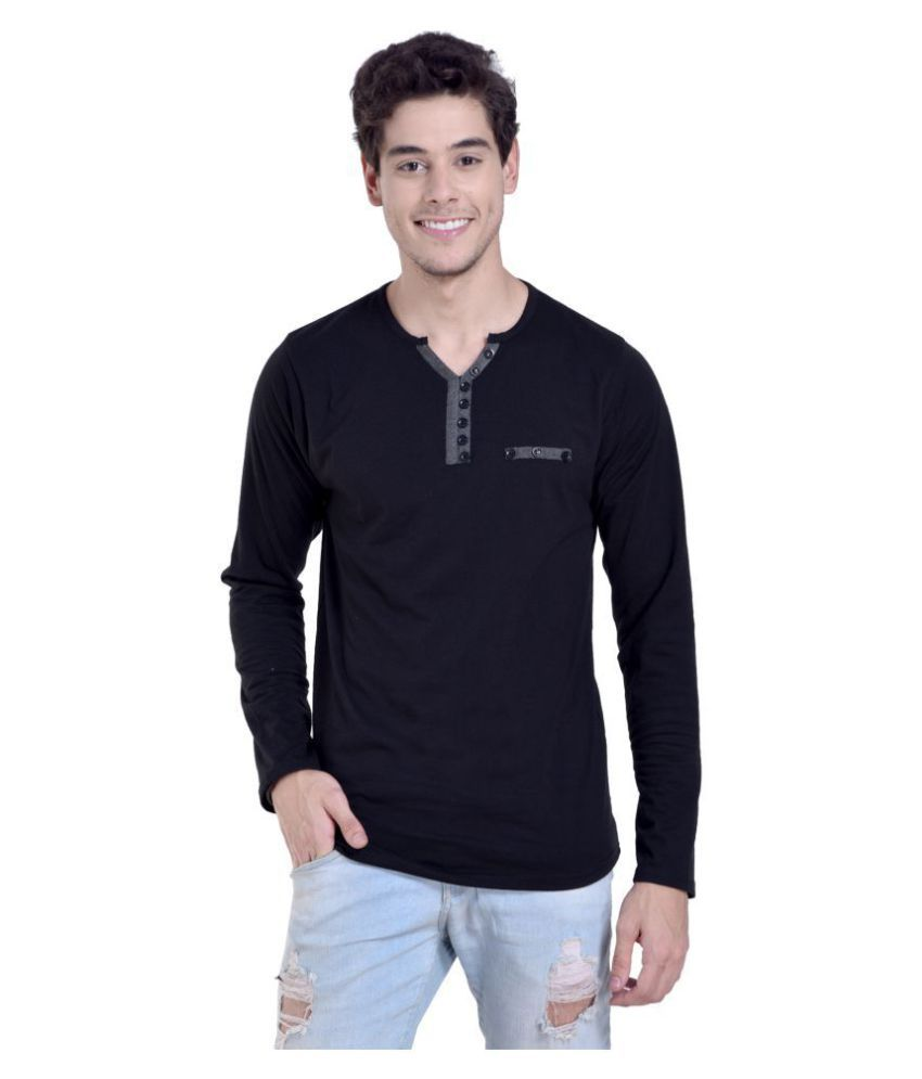Try This Black Full Sleeve T-Shirt Pack of 1