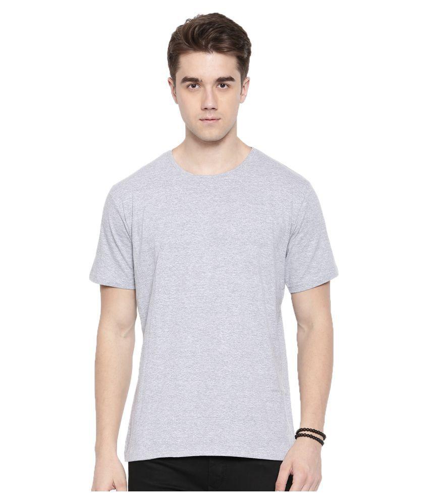 MANLINO Grey Half Sleeve T-Shirt Pack of 1
