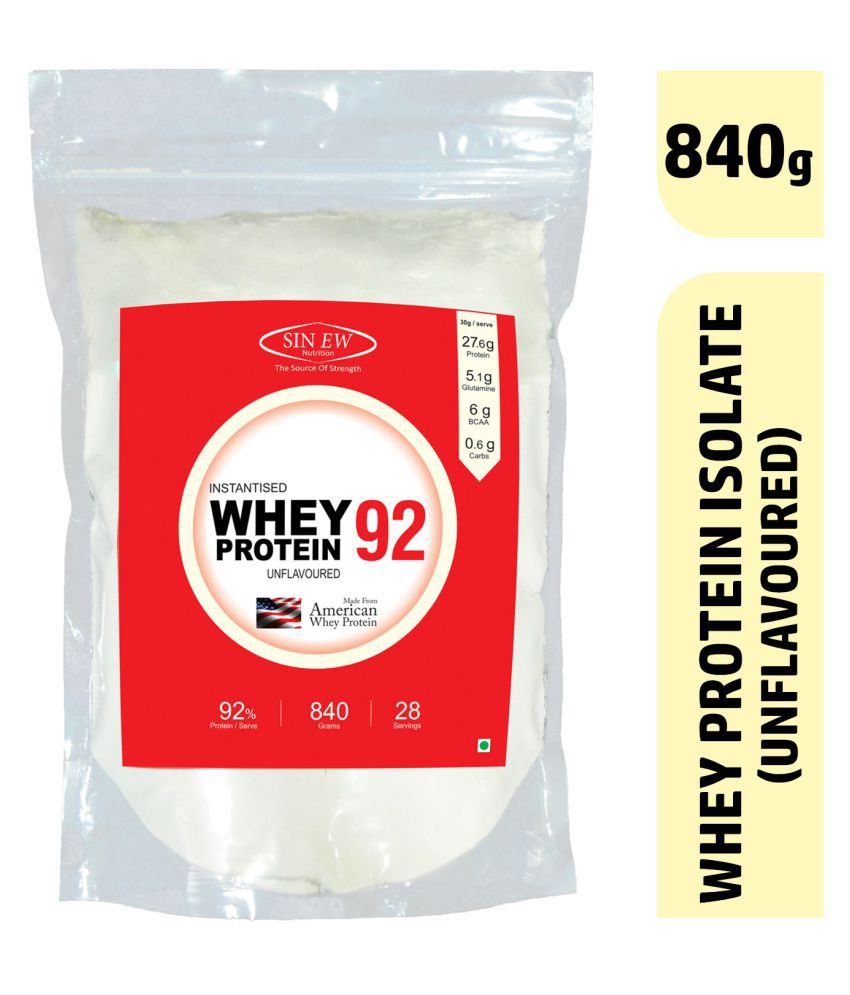 Sinew Nutrition Instantised Whey Protein Isolate 92% Raw 840 gm