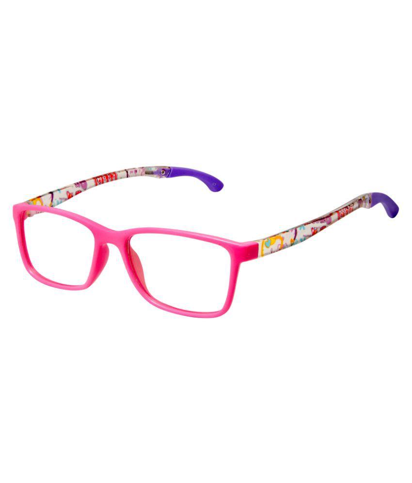 Cardon Pink Rectangular Full Rim Kids EyeFrame