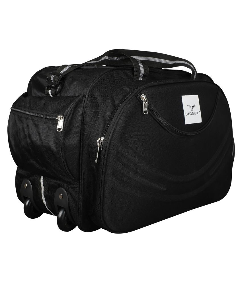 BREGGABOG Black Solid Duffle Bag