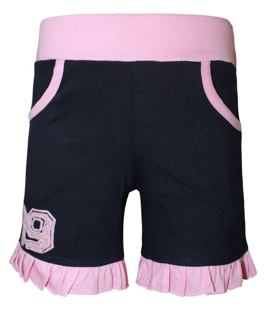 Kothari Girls Solid Cotton shorts pack of 1