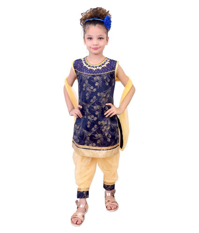 b7d80a503c ... Readymade Patial Suit for Kids (Navy) - Buy Safina Collection Printed  Designer Readymade Patial Suit for Kids (Navy) Online at Low Price -  Snapdeal