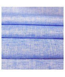 Siyaram's Blue Linen Blended Unstitched Shirt pc